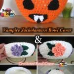 Vampire Jack o Lantern Bowl Cover ~ Meladora's Creations