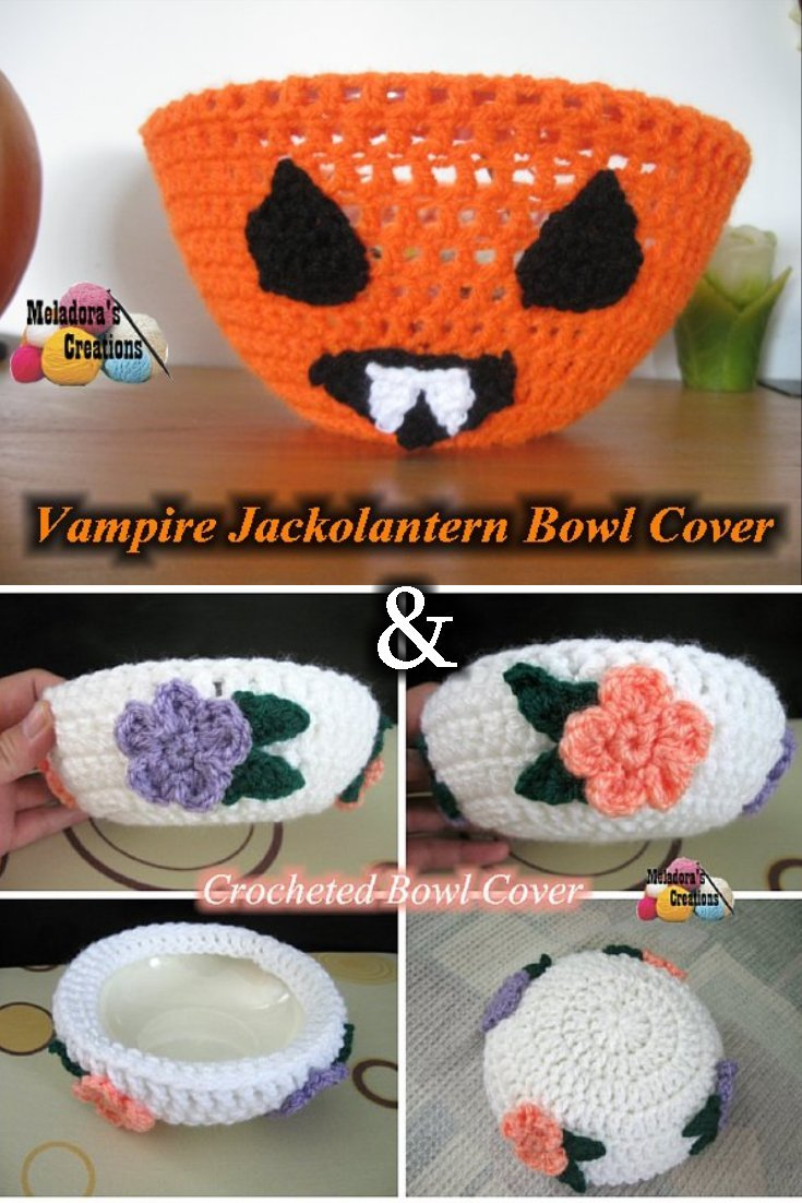 Vampire Jack o Lantern Bowl Cover by Meladora's Creations