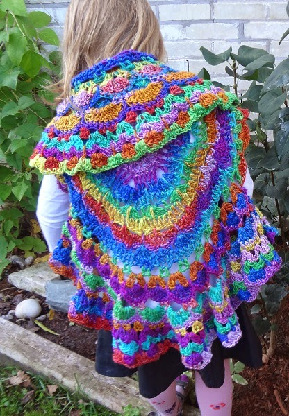 Kaleidoscope Dream Circle Vest by Jennifer Gregory of Niftynnifer's Crochet & Crafts