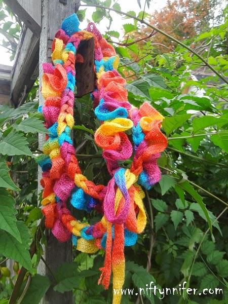 Braided Sashay Scarf by Jennifer Gregory of Niftynnifer's Crochet & Crafts