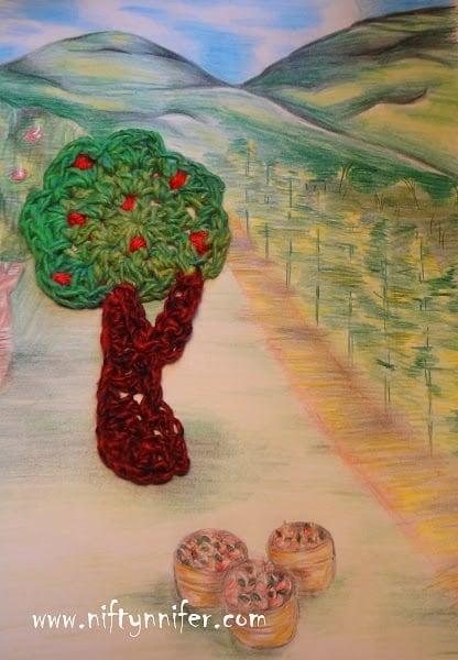 Apple Tree Motif by Jennifer Gregory of Niftynnifer's Crochet & Crafts