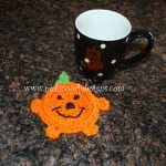 Pumpkin Coaster ~ Sara Sach - Posh Pooch Designs
