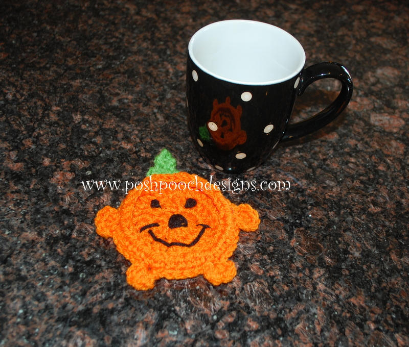 Pumpkin Coaster by Sara Sach of Posh Pooch Designs