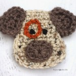 D is for Dog: Crochet Dog Applique ~ Repeat Crafter Me