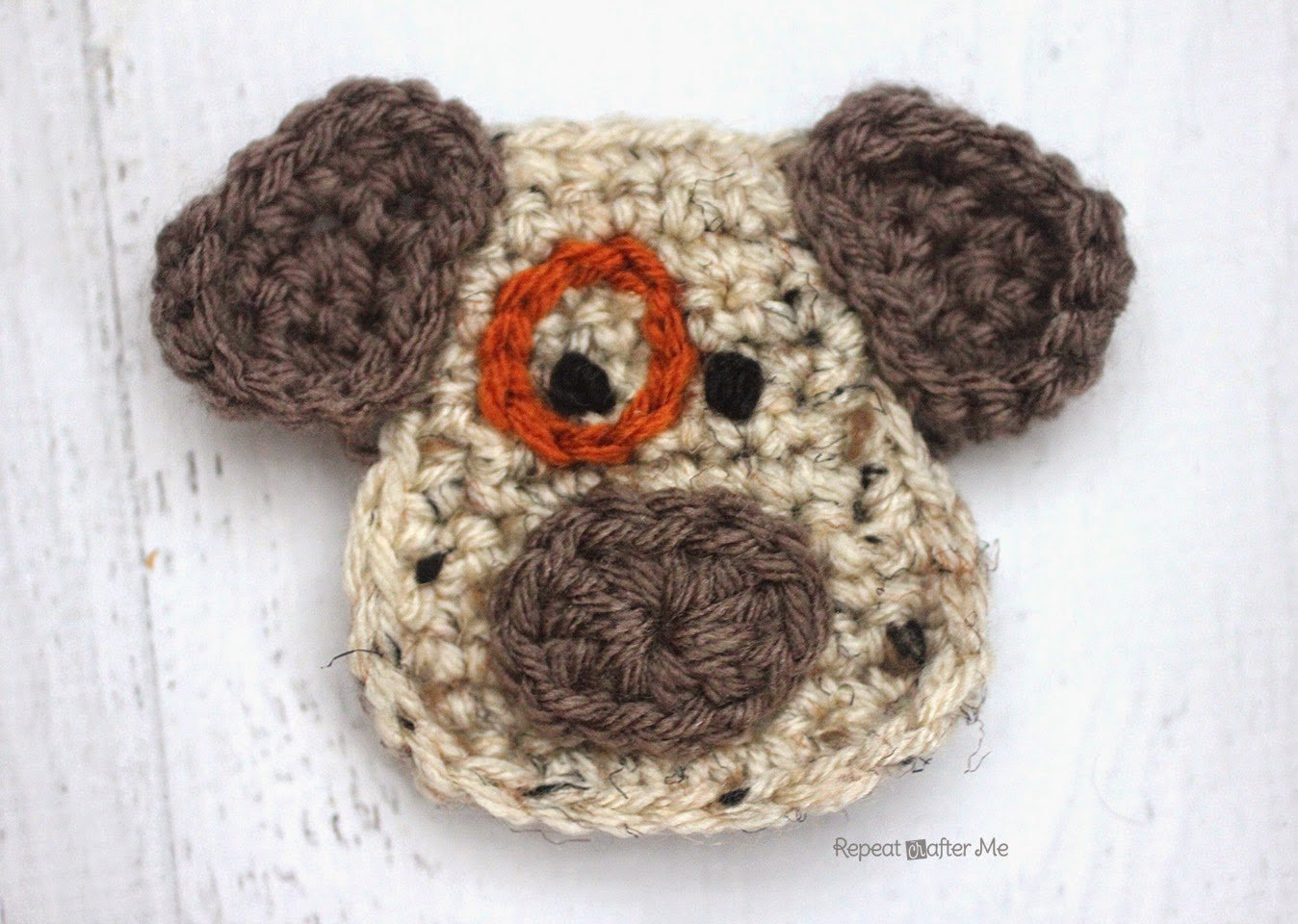 D is for Dog: Crochet Dog Applique by Repeat Crafter Me
