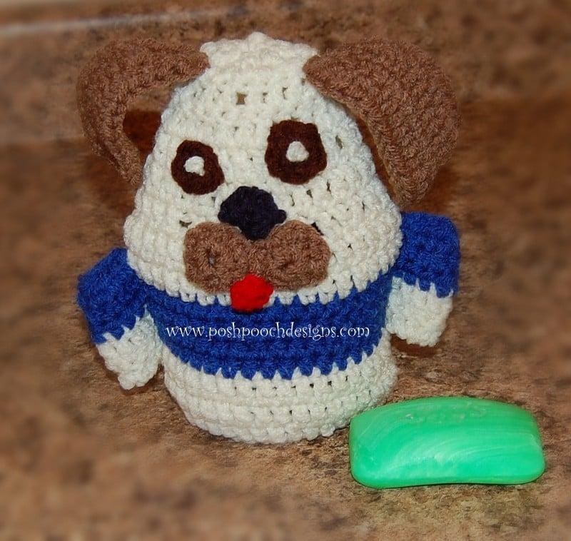Dog Bath Buddy - Dog Puppet by Sara Sach of Posh Pooch Designs