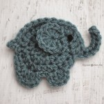 E is for Elephant: Crochet Elephant Applique ~ Repeat Crafter Me
