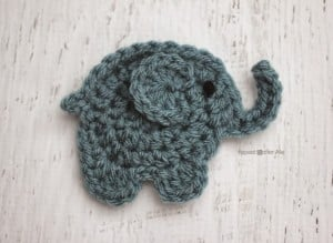 E is for Elephant: Crochet Elephant Applique by Repeat Crafter Me
