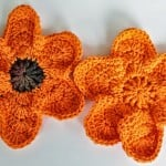 Falling Around a Flower Dishcloth by DragonFlyMomof2 Designs