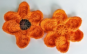 Falling Around a Flower Dishcloth by DragonFlyMomof2 Designs