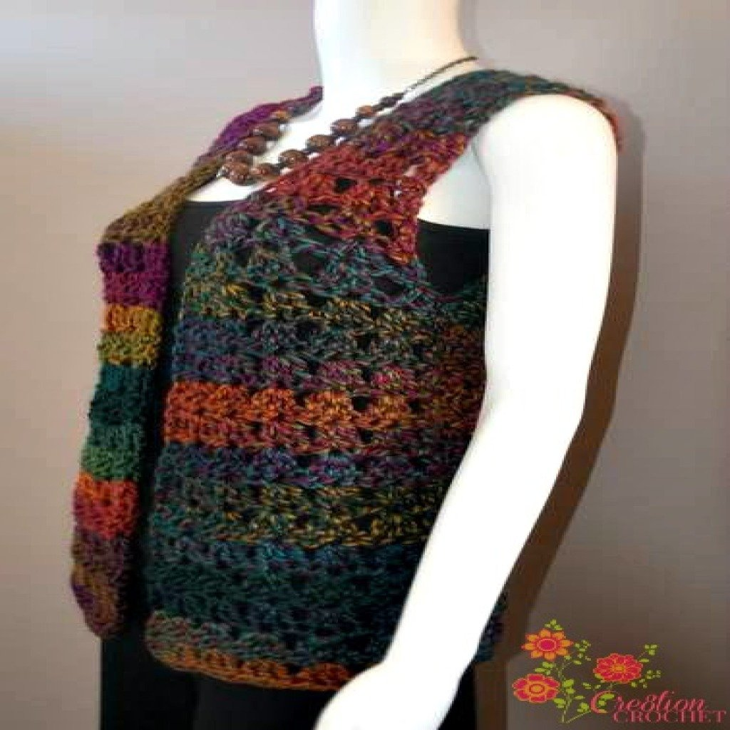 Free Crochet Pattern Colorful Baby Vest : Pics Photos - 10 Unique And Free Crochet Dress Patterns ...