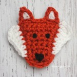 F is for Fox: Crochet Fox Applique ~ Repeat Crafter Me