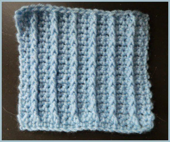 Single Crochet Raised Rib Stitch by Heather's Crochet Blog