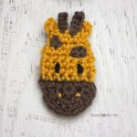 G is for Giraffe: Crochet Giraffe Applique by Repeat Crafter Me