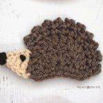 H is for Hedgehog: Crochet Hedgehog Applique ~ Repeat Crafter Me