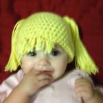 "Baby ""Hair"" Hat by Manda Proell of MandaLynn's Crochet Treasures"