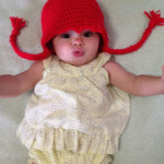 "Baby ""Hair"" Hat ""Braids"" by Manda Proell of MandaLynn's Crochet Treasures"