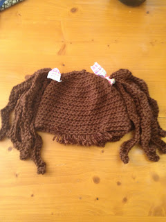 "Baby ""Hair"" Hat ""Crimply Pig Tails"" by Manda Proell of MandaLynn's Crochet Treasures"