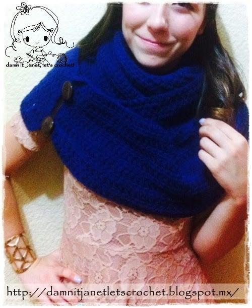 Convertible Infinity Scarf ~ Damn it Janet, Let's Crochet