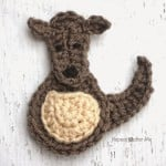 K is for Kangaroo: Crochet Kangaroo Applique ~ Repeat Crafter Me