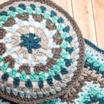 Round Granny Crochet Pillow ~ Petals to Picots