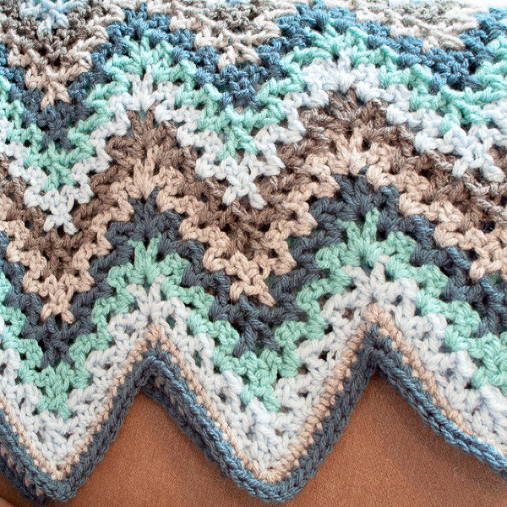 Free Knitting Pattern For Ripple Afghan : free crochet baby ripple afghan pattern