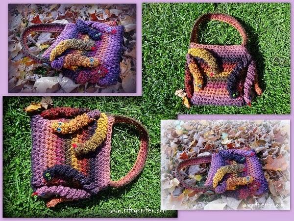 Medusa's Hand Bag by Jennifer Gregory of Niftynnifer's Crochet & Crafts