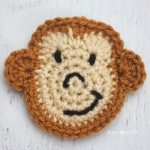 M is for Monkey: Crochet Monkey Applique ~ Repeat Crafter Me