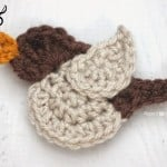 N is for Nightingale: Crochet Nightingale Bird Applique ~ Repeat Crafter Me