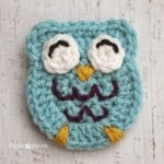 O is for Owl: Crochet Owl Applique by Repeat Crafter Me