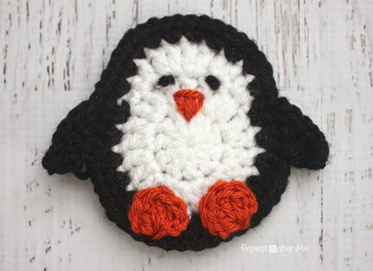 Free Crochet Pattern Penguin Afghan : Crochet Penguin Applique ~ FREE Crochet Pattern