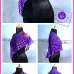 """Purple Glam"" Shawl ~ Maz Kwok's Designs"