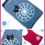 Crochet Spider Web Applique by Maz Kwok's Designs