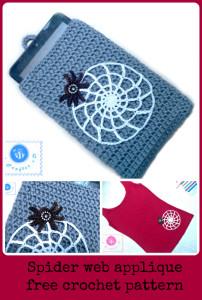 Crochet Spider Web Applique by Maz Kwok's Designs