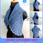 Crochet Shawl Cir-Collar Vest by Maz Kwok's Designs