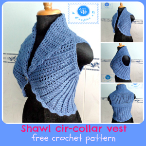 Ravelry: Crochet Buttoned Shawl Collar pattern by The Knit