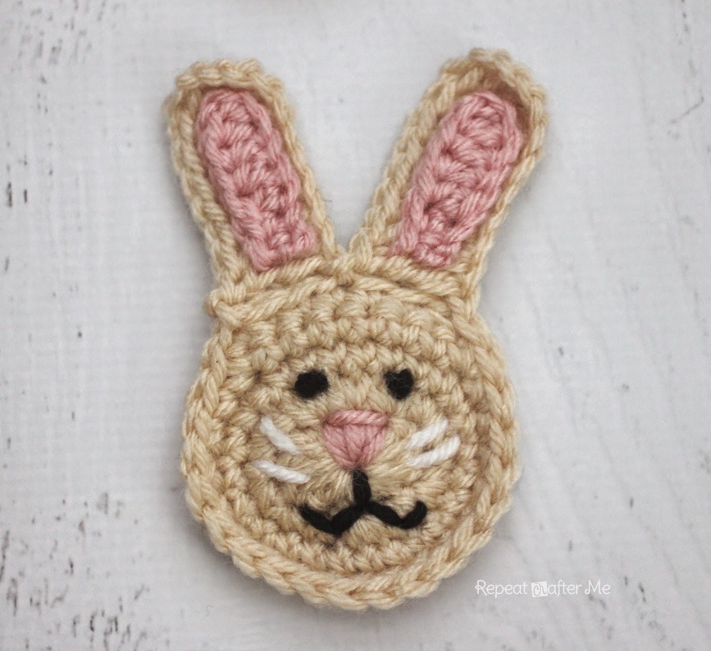Crochet Patterns Rabbit : is for Rabbit: Crochet Rabbit Applique ~ Repeat Crafter Me