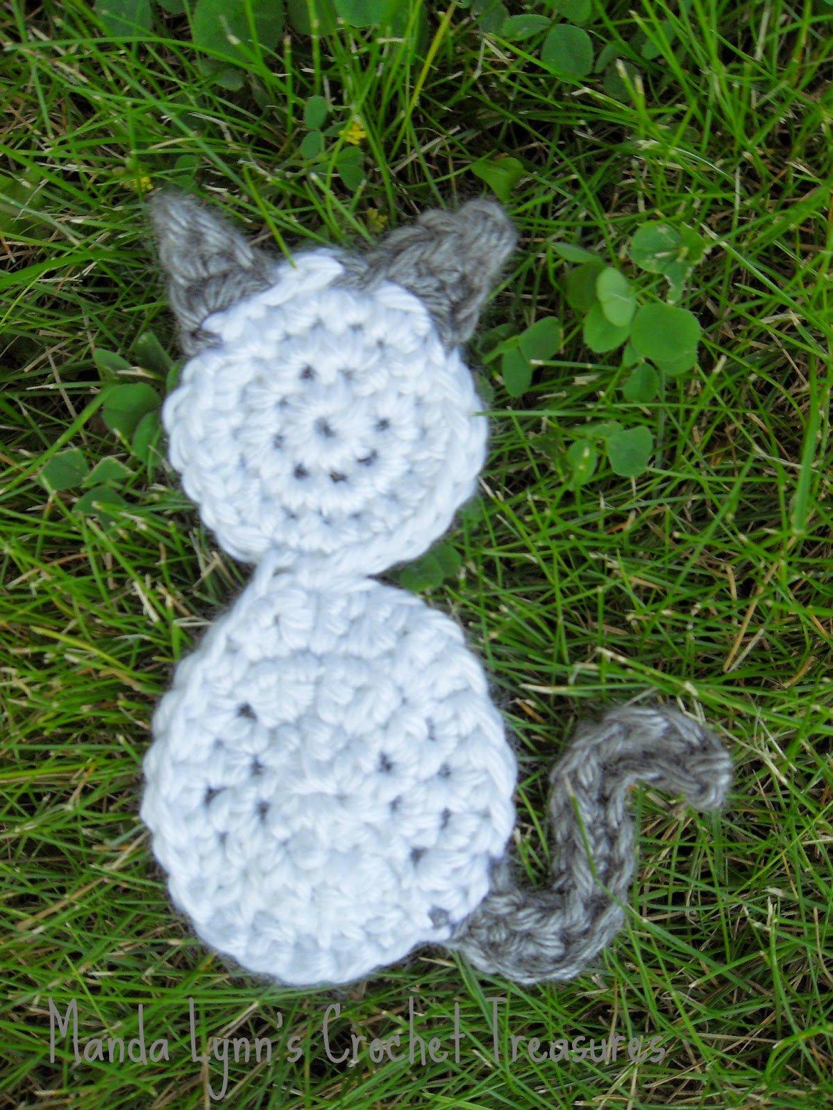 Aizen the Kitty Applique ~ Manda Proell - MandaLynn's Crochet Treasures