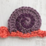 S is for Snail: Crochet Snail Applique ~ Repeat Crafter Me
