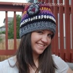 Yarn Stash Busting Beanie – Striped Beanie Hat by Sara Sach of Posh Pooch Designs
