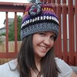 Yarn Stash Busting Beanie – Striped Beanie Hat by Sara Sach of Posh Pooch Designs