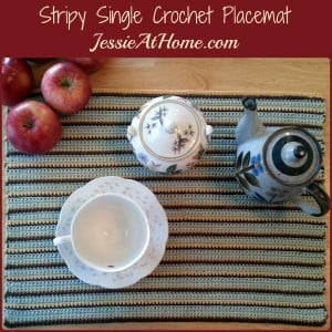 Stripy Single Crochet Placemat by Jessie At Home