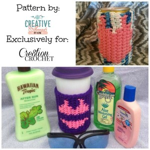 Swimsuit Graph Drink Sleeves by Creative Threads by Leah for Cre8tion Crochet
