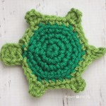 T is for Turtle: Crochet Turtle Applique ~ Repeat Crafter Me