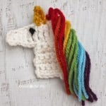 U is for Unicorn: Crochet Unicorn Applique ~ Repeat Crafter
