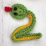 V is for Viper: Crochet Viper Snake Applique by Repeat Crafter Me