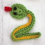V is for Viper: Crochet Viper Snake Applique ~ Repeat Crafter Me