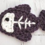 X is for X-ray Fish: Crochet X-ray Fish Applique by Repeat Crafter Me
