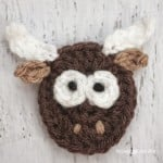 Y is for Yak: Crochet Yak Applique ~ Repeat Crafter Me
