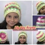 Zig Zag Beanie by Meladora's Creations